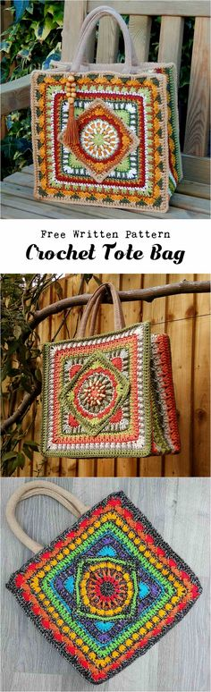 Another beautiful bag to crochet for you By Christine Bateman With free Written Pattern. Crochet Tote Bag and make your Look more beautiful and attractive.