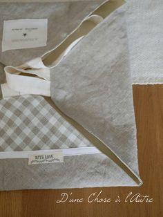 Sac à tarte nouvelle version Couture, Sewing, La Perla Lingerie, Bags, Great Ideas, Baby Newborn, Dressmaking, Fabric Sewing, Haute Couture