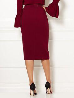 Eva Mendes Collection - Box-Pleat Pencil Skirt - New York & Company