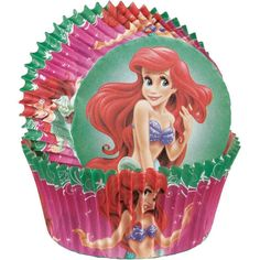 Little Mermaid Cupcake Baking Cups by jenuinecraftsandmore on Etsy