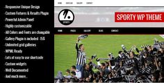 Sporty is a responsive wordpress sport club theme. It's suitable for soccer, football, american football, basketball, baseball, rugby, cricket, volleyball, ice hockey, handball etc sport clubs.