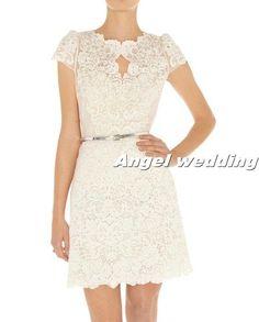 Short lace Wedding Dress Vintage Lace P10k at etsy