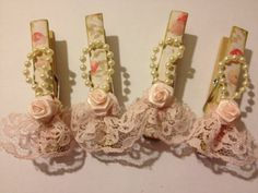 Shabby Chic Decorative Clothes Pins Banner Pink by StuffDepot, $2.95