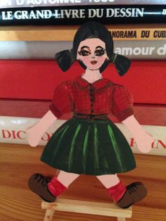 Doll. Painted wood Painted Wood, Painting On Wood, Cubs, Snow White, Disney Characters, Fictional Characters, Arts And Crafts, My Arts, Dolls