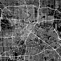Houston, Texas. Downtown vector map.  #american #area #atlas #background #black #clean #design #downtown by #Hebstreit