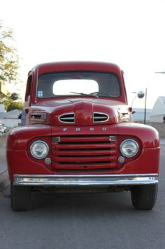 FORD- love old trucks like this. I want to cruise around a small town in this!