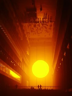 Olafur Eliasson The weather project, 2003 - Installation in Turbine Hall, Tate Modern (London) Mc Bess, Tate Modern London, Turbine Hall, Art Actuel, Modern Art, Contemporary Art, Doodle Drawing, Olafur Eliasson, Land Art