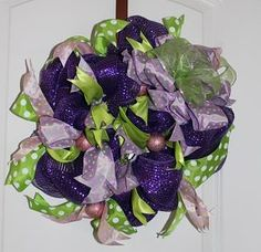 #106 Spring Wreath - Small in purple, lavendar and light green