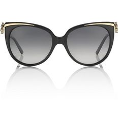 Bulgari Flower Cat Eye Sunglasses ($13,660) ❤ liked on Polyvore