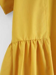 Blusa con bajo asimétrico con cremallera en la espalda-Spanish  SheIn(Sheinside) 51ffed0bfa45