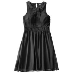 Mossimo® Women's Satin Sleeveless Ring Neck Lace Bodice Dress - Assorted Colors gray and super price