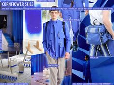 Cornflower Blues Moodboard Menswear Spring/Summer 2015 - For more fashion trend forecasting, check out Trendstop.com