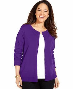 August Silk Plus Size Silk-Blend Cardigan | Shops, Plus size ...