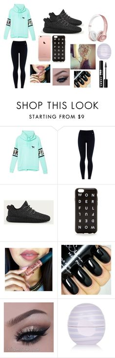 """""""Cute Outfit For A Daily Basis If You Know How To Put Makeup On"""" by juliadeaverss on Polyvore featuring Victoria's Secret, NIKE, adidas, J.Crew, River Island, LORAC, women's clothing, women, female and woman"""
