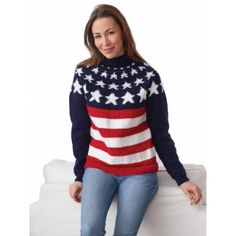 Stars and Stripes Pullover free knitting pattern