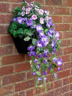 61 best outdoor silk flowers images on pinterest container plants artificial hanging baskets artificial plants floating garden baskets on wall hanging flowers garden walls plant decor window box plants plant care mightylinksfo