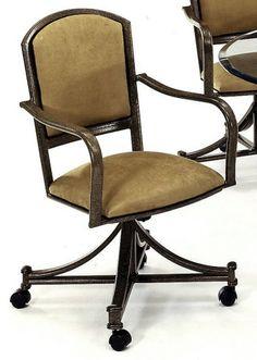 Chromcraft Furniture C179 856 Swivel Tilt Caster Chair