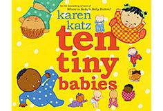 """Karen Katz has great board books for infants and toddlers. Ten Tiny Babies isn't necessarily my favorite, but my niece demanded """"again!"""" each time we read it, so that we ended up reading it somewhere between 10 and 15 times in one sitting. Toddler Books, Childrens Books, Baby Books, Black And White Books, Early Literacy, Emergent Literacy, Programming For Kids, Baby Belly, Karen"""