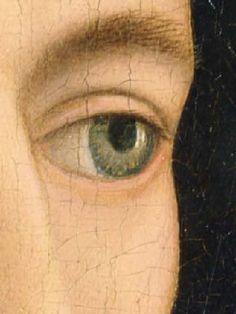 Detail, Portrait of a Man (1430s) by Rogier Van Der Weyden