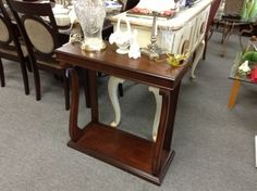 Hall Table - Wooden hall table. Item 120-79.  Price $150.00   - http://takeitorleaveit.co/2013/09/14/hall-table-2/