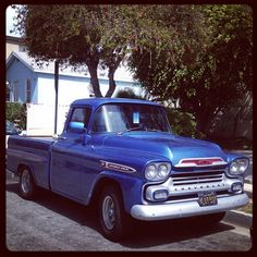 Not sure of the year. But I'm still loving this classical American truck. Toy Trucks, Pickup Trucks, Classic Trucks, Classic Cars, Chevy Apache, Chevrolet Trucks, Motor Car, Cars And Motorcycles, Vintage Cars