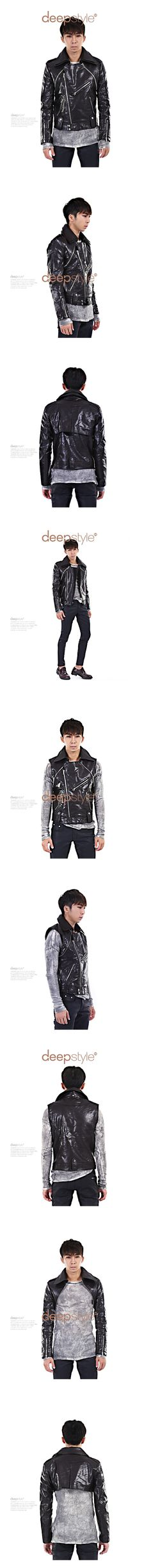 Convertible Faux Leather Biker Jacket