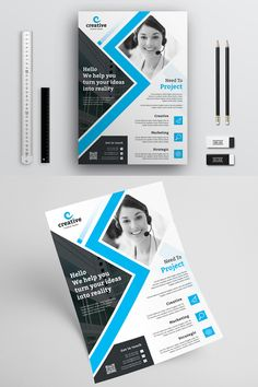 creative business flyer corporate identity template flyer business creative corporateidentity flyer design