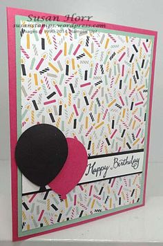 Balloon Celebration, It's My Party, Stampin Up, susan stamps.wordpress.com