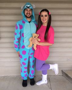 sully and boo couple costume  sc 1 st  Pinterest & Cool DIY Monsters Inc. Family Costume: Sully Mike and Boo | Coolest ...