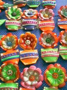 Cesticas de Flores pequeñas para colocar en la nevera con imán