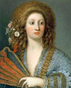 "️️️♥ ""Courtesan with a Fan"" by Girolamo Forabosco (1650-1660)"