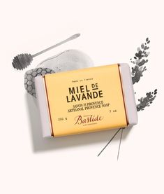 50b629eeabbbf Bastide Miel de Lavande Provence Soap - made with 97% natural ingredients,  including Provence