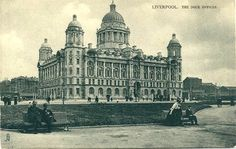 Liverpool Dock's Office 1906 Liverpool Life, Liverpool Docks, Liverpool History, Uk History, Local History, Family History, King John, Southport, Historical Pictures