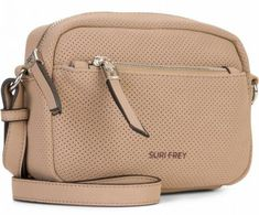 !!!Crossovertasche taupe perforiert beige Suri Frey Romy Hetty Suri Frey, Taupe, Dime Bags, Artificial Leather, Sachets, Silver, Nice Asses, Beige