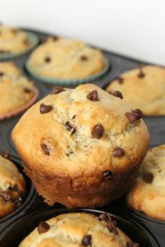 Gluten Free Chocolate Chip Muffins  2 cups Bob's Red Mill Gluten Free 1-to-1 Baking Flour 1/2 cup organic pure cane sugar 1 tablespoon baking powder 1/2 teaspoon salt 1 egg 3/4 cup plus 2 tablespoons milk 1/3 cup vegetable oil 1/2 teaspoon pure vanilla extract 1/3 cup chocolate chips ( I used mini's)