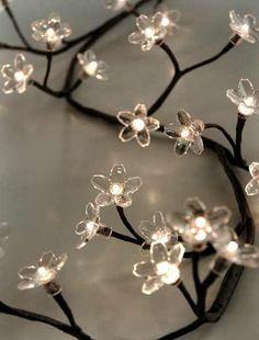 Another magical lighting option: Crystal Flower Lights