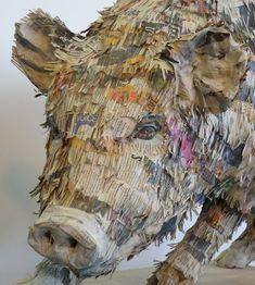 Großartige Zeitungspapier-Skulpturen von Will Kurtz | KlonBlog