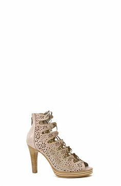 Lace-up Peep-Toe Heels. Zinda #SS16