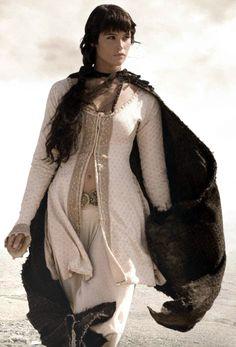 Viking style dress.