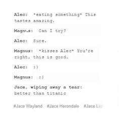 Malec is life <<< Jace is all of us, can you Imagen Julián:*crying* Emma: *cries with Julian* Shadowhunters Tv Show, Shadowhunters The Mortal Instruments, Mortal Instruments Quotes, Magnus And Alec, Cassie Clare, Cassandra Clare Books, Alec Lightwood, Clace, The Dark Artifices