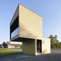 Bus Stops in Krumbach Austria, new shots by British photographers Hufton + Crow; The exterior cladding isn't to my taste, but I like the cantilever and the wide open view. Could really come in handy when scoping out where the bus is.