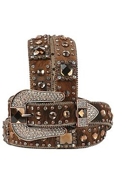 Nocona Ladies Rhinestone Western Belt