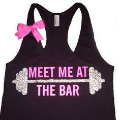 Meet Me at The Bar - Racerback Tank - Black Tank - Fitness Tank - Gym – Ruffles with Love