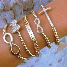 Lots of #bracelets for summer! #Infinity #cross