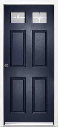Colonial External Glazed Enduradoor Door Set in Blue - MODA Doors  - 1