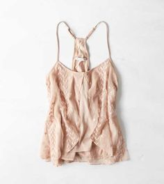 AEO Women's Embroidered Floaty Cami from American Eagle Outfitters. Cute Summer Outfits, Spring Outfits, Girl Outfits, Casual Outfits, Cute Outfits, Casual Clothes, Fashion D, Fashion 2020, Fashion Outfits
