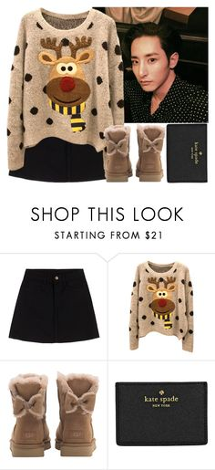 """""""Sitting in a cafe with Soo Hyuk"""" by evil-maknae ❤ liked on Polyvore featuring UGG and Kate Spade"""