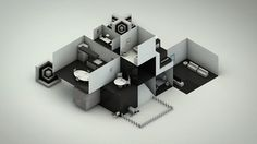 Isometric House on the Behance Network