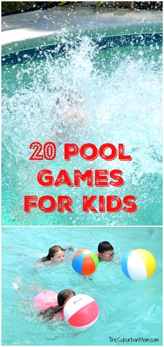 20 Pool Games For Kids – the perfect recipe for summer fun. 20 Pool Games For Kids – the perfect recipe for summer fun. Pool Games Kids, Swimming Pool Games, Pool Party Games, Pool Party Kids, Pool Activities, Summer Pool Party, Kid Pool, Summer Games, Fun Games