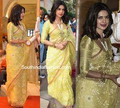 Priyanka Chopra in Madhurya Saree at the Padma Shri Awards